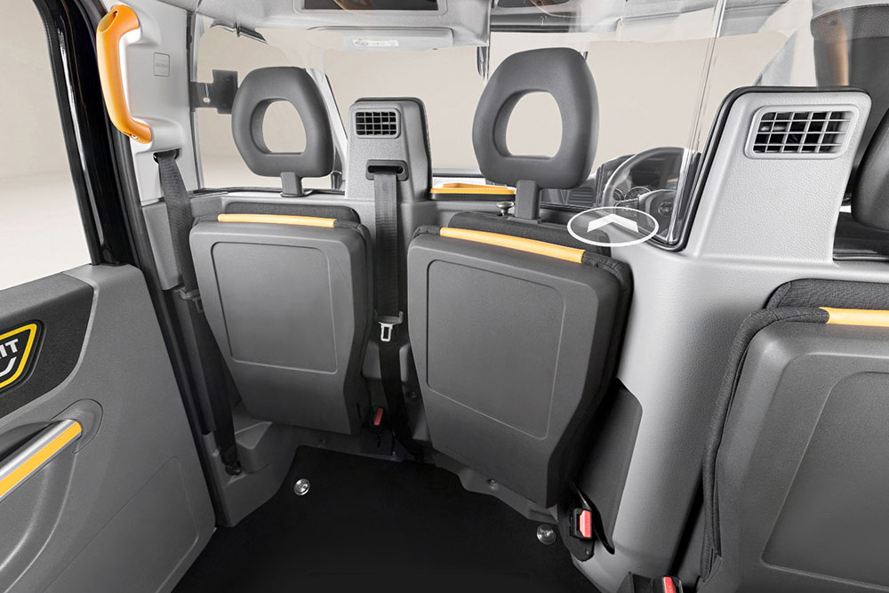 Electric London Taxi Seating Area